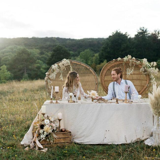 Boho Hochzeit Tischdeko