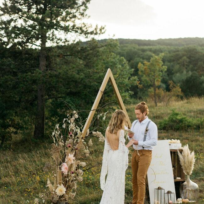 Boho Hochzeit Trauung Backdrop